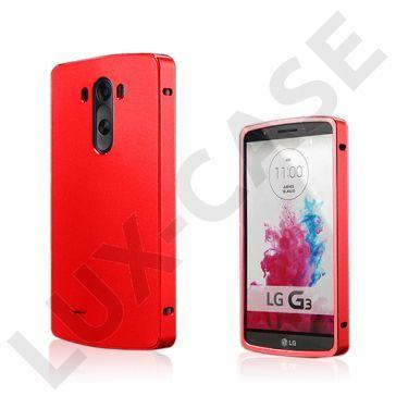 Brandes (Rød) LG G3 Aluminum Bumper