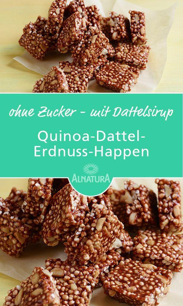 Quinoa Dattel Erdnuss Happen Rezept Desayuno Finger Foods