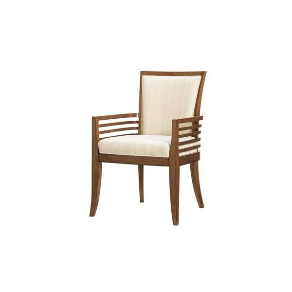 Tommy Bahama Ocean Club Quick Ship Kowloon Arm Chair ($485) ❤ liked on Polyvore featuring home, furniture, chairs, accent chairs, tommy bahama furniture, tommy bahama chair, woven chair, woven furniture and colored chairs