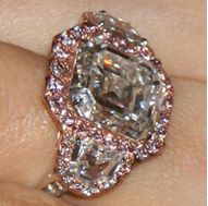 Mariah Carey Emerald Cut Pink Engagement Ring, celebrity ring