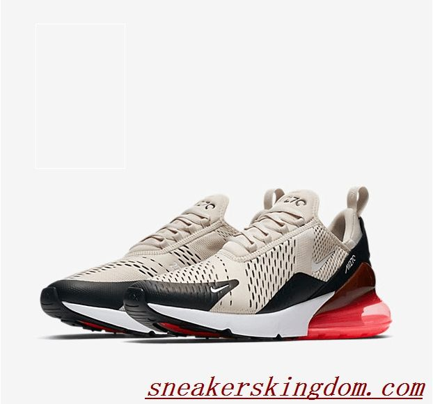 on sale 5c343 c7239 Nike Air Max 270 Beige Black Red | Air max nike shoes in ...
