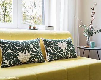 Monstera Handmade Pillow Designer Pillow High Quality Pillow Bedding Decor Pillow Pillowcase Pillow Cushion -    Edit Listing  - Etsy