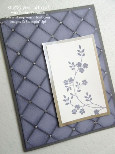 Scoring & sponging = beautiful background…#stampyourartout #stampinup - Stampin' Up!® - Stamp Your Art Out! www.stampyourartout.com