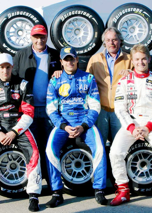 Mathias & Niki Lauda, Nelson Piquet Jr. & Keke & Nico Rosberg