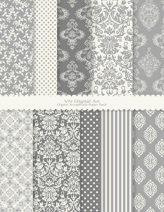 Gray fabric patterns