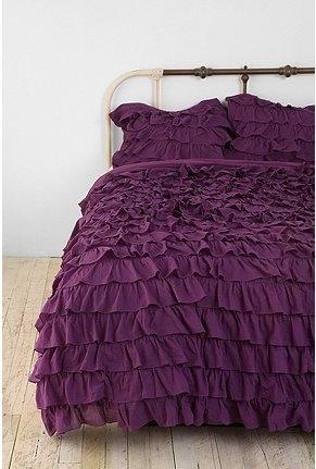violet ruffles