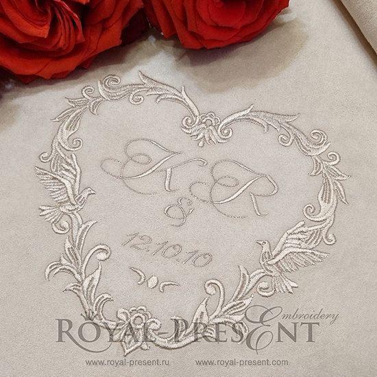 Machine Embroidery Design Wedding Monogram by RoyalPresentEmb