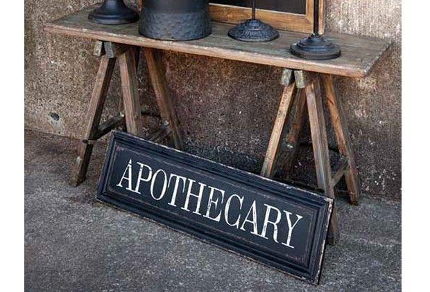 Unique Wooden Apothecary Sign $28.00@http://antiquefarmhouse.com/current-sale-events/apothecary.html