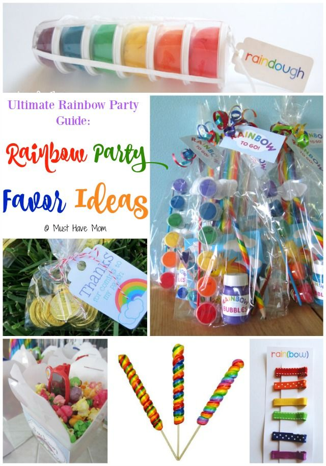 Ultimate Rainbow Party Guide Rainbow Party Favor Ideas. This guide has rainbow party food ideas, deocr, favors and more! These are cute party favors you can buy or DIY!