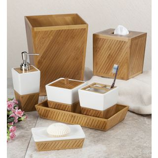 @Overstock - Spa Bamboo Bath Accessory Collection - Turn your bathroom into a serene spa with the luxurious Spa Bamboo bath accessory collection. With seven individual accessories to choose from, your bathroom is sure to have its own custom look.  http://www.overstock.com/Bedding-Bath/Spa-Bamboo-Bath-Accessory-Collection/8883505/product.html?CID=214117 $19.99