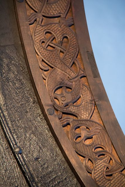 Detail of the Oseberg ship by B.Melsom