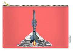 Carry-all Pouch featuring the digital art Blast Off by Francesca Mackenney