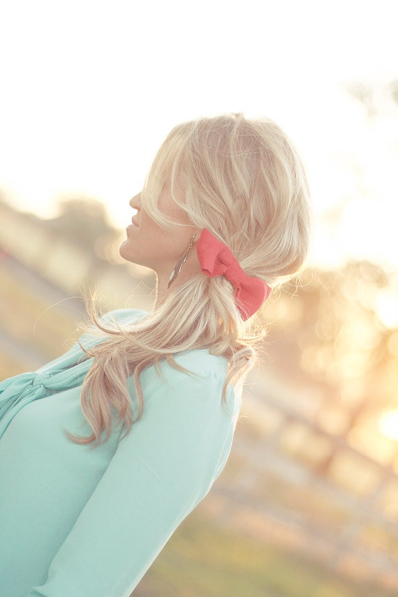 Bow Ponytail tie your choice of cloor by trewluv