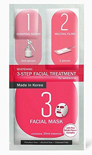 4 Mask sheets of Watsons 3-step Facial Treatment Whitening *** Read more  at the image link.