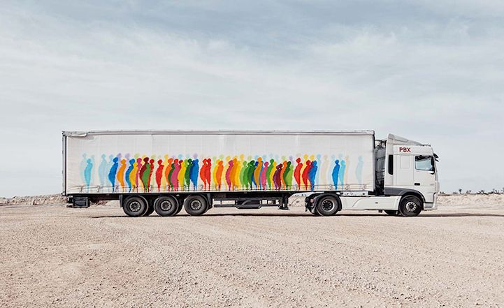The side of a freight truck, with its expansive surface space, has great potential for massive artistic expression. This becomes all the more clear as the Truck Art Project transforms these large vehicles into mobile galleries whose exteriors display contemporary paintings. The open road hosts these unconventional artworks, utilizing a network of trade transportation routes that roll across Spain and bring art to places where this type of unexpected work is rarely seen. So far, 10 trucks…