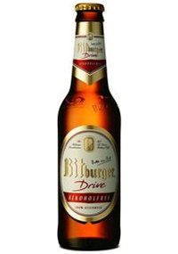 £19.50  Bitburger Drive, Alkoholfrei, 330ml, pack of 24 bottles  A genuine Bitburger beer without the alcohol; an impressive taste due to its unique production. 0.05% ABV    A genuine Bitburger beer, without the alcohol. The impressive taste is due to the unique way in which it is produced. Bitburger Drive is brewed in exactly the same way as the full strength Bitburger Pilsner beer. Only when the beer has matured completely, the alcohol is removed using an extremely gentle process. Theref