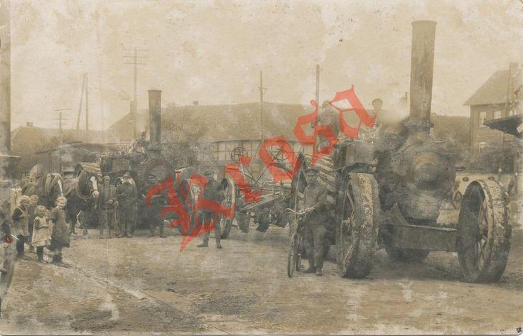 Repro Foto Lokomobile 2x Pfluglokomotive Kipppflug Magdeburg 26.09.1925 Kinder in Antiquitäten & Kunst, Fotografie & Fotokunst, Vor 1940 | eBay
