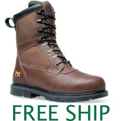 """Timberland Pro 85526 9"""" Thermal Force-Steel Toe Brown Full-Grain Oiled Leather and Fabric Upper Leather Boots"""