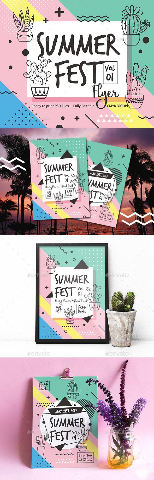 Summer Fest Flyer - Events Flyers Summer Fest Flyer — Photoshop PSD #flyer #print