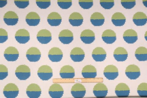 Golding Margot Printed Drapery Fabric in Mediterranean