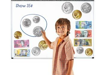 Magnetic Money Set with Australian Money to attach to any magnetic whiteboard