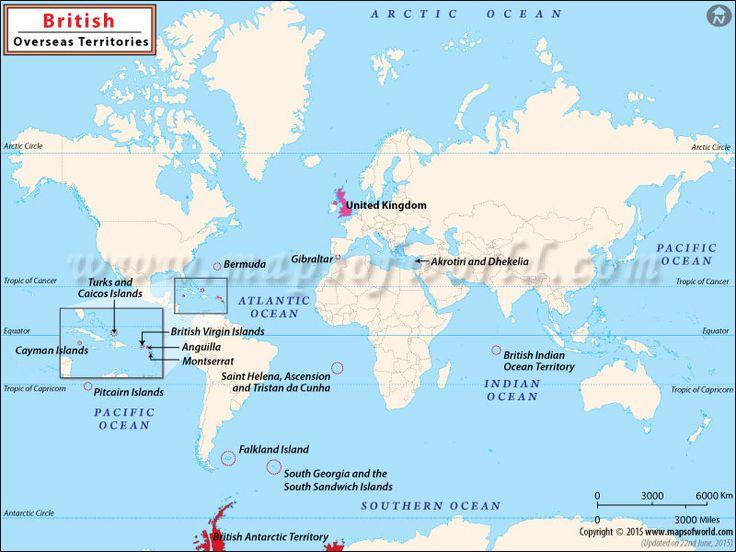 British Overseas Territories #Map
