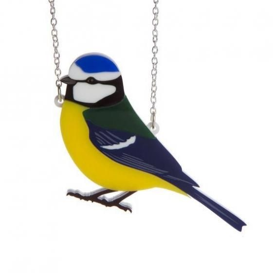 "Round She Goes - Market Place - SUGAR & VICE ""Blue Tit"" Necklace"