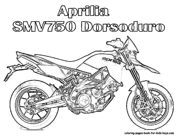 Motorcycle Coloring Pages Aprilia Motorcycle Coloring At