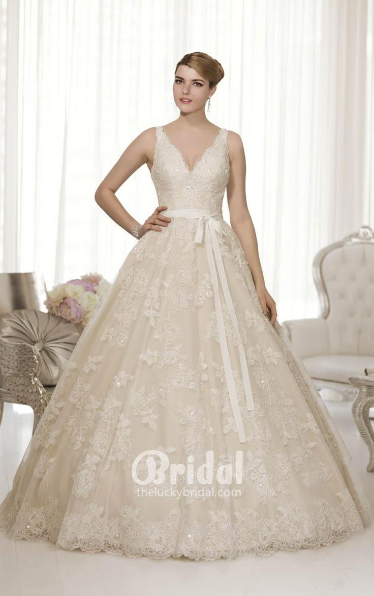 23 best short bridesmaid dresses images on pinterest marriage lace sleeveless v neck ball gown wedding dress with sash ombrellifo Image collections