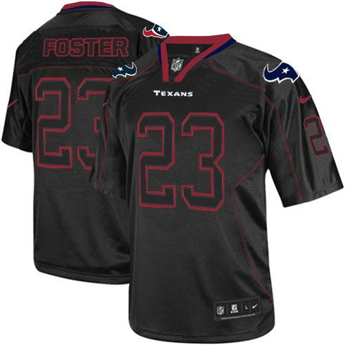 new mens black nike game houston texans 23 arian foster lights out nfl jersey