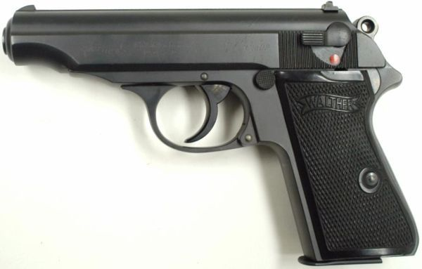 A typical prewar Walther PP pistol.  Find our speedloader now!  www.raeind.com  or  http://www.amazon.com/shops/raeind
