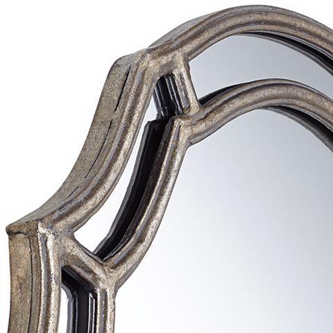 "Uttermost Petrizzi 35"" High Silver Wall Mirror - #W5449 | Lamps Plus"