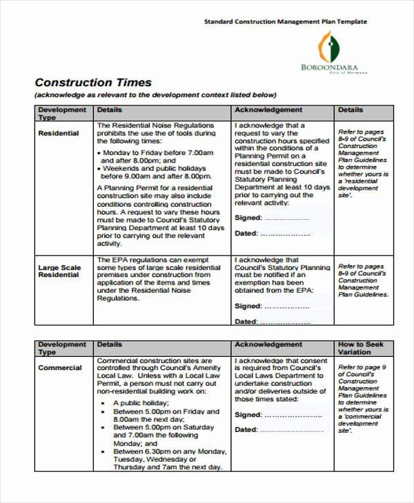 Construction Management Plan Template Awesome 34 Management Plan Templates In Pdf Business Plan Template Free Business Plan Template Marketing Plan Template