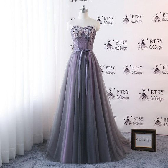 Long Sleeve Evening Dresse Floral Tulle Appliques Dress A-Line Women Formal Party Gown Long Gray Prom Dresse Fashionable Bride Gown