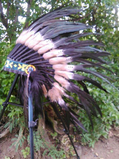 For kid / children Double Feather Headdress by TheLandOfCockaigne