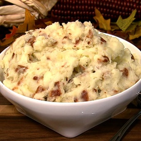 Cheddar Mashed Potatoes with Bacon and Apples - try with equal parts ...