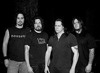 DANZIG. Bevan Davies - drums; Tommy Victor- guitar; Glen Danzig - voice; Jerry Montano - bass