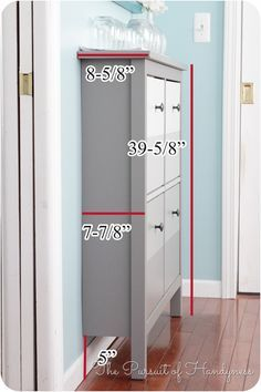 For the front entry (as long as measurements work with space!) Ikea Hemnes Shoe Cabinet Dimensions