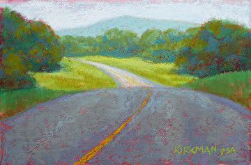 Road Sketch #27 by Rita Kirkman Pastel ~ 4 x 6 inches