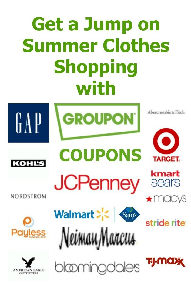 Coupons for clothes stores