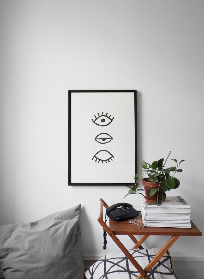 Prosty plakat w salonie
