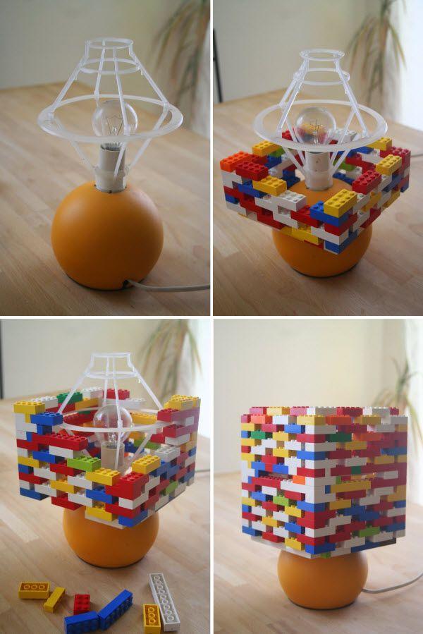 fabriquer une lampe en lego