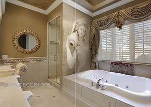 Дизайн стен ванны.