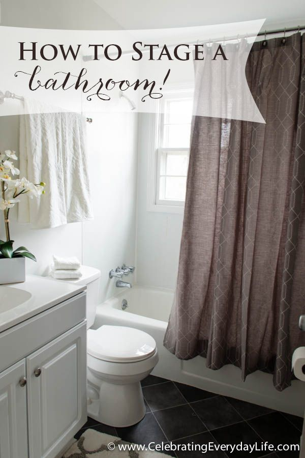 Today I'm sharing more staging/decorating advice! This time we're making the most of two small but sophisticated bathrooms!