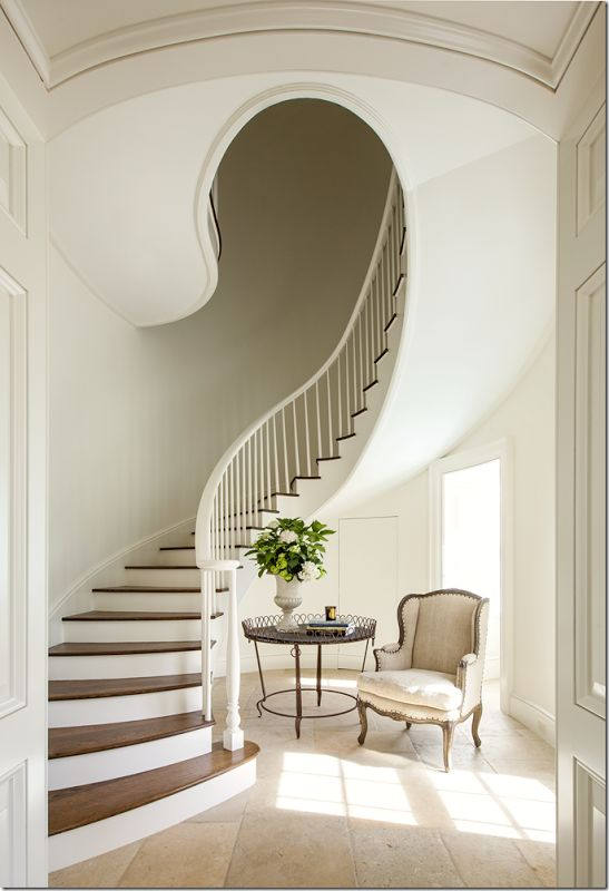 fabulous stairs!  Designer Ginger Barber, Architect- Curtis & Windham, RB Ratliff Builders, Nick Johnson Photography