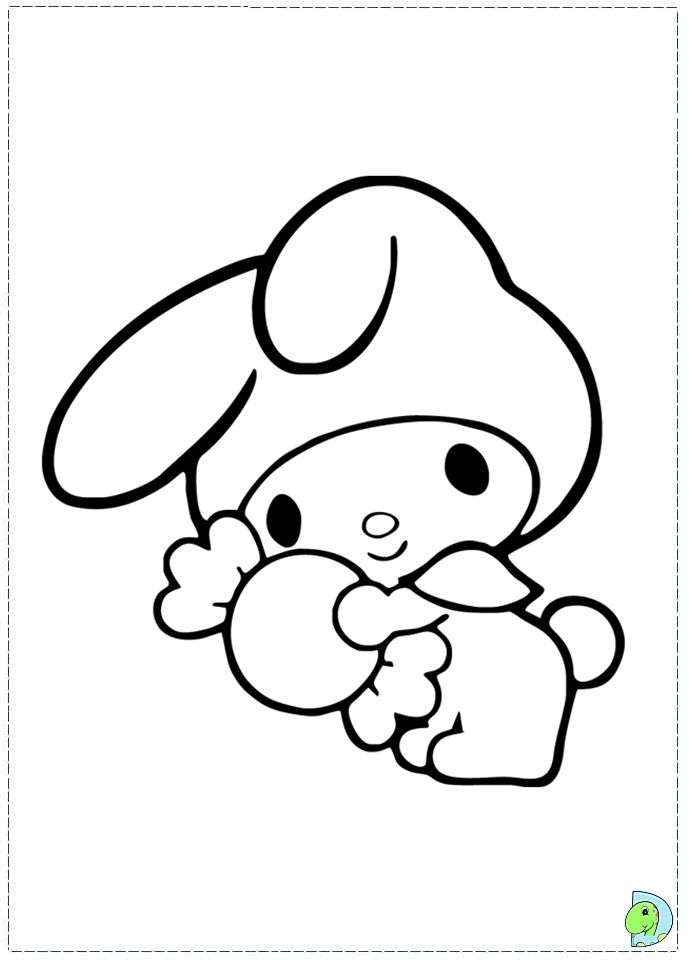 Hello Kitty And My Melody Coloring Pages : Images about coloring pages on pinterest
