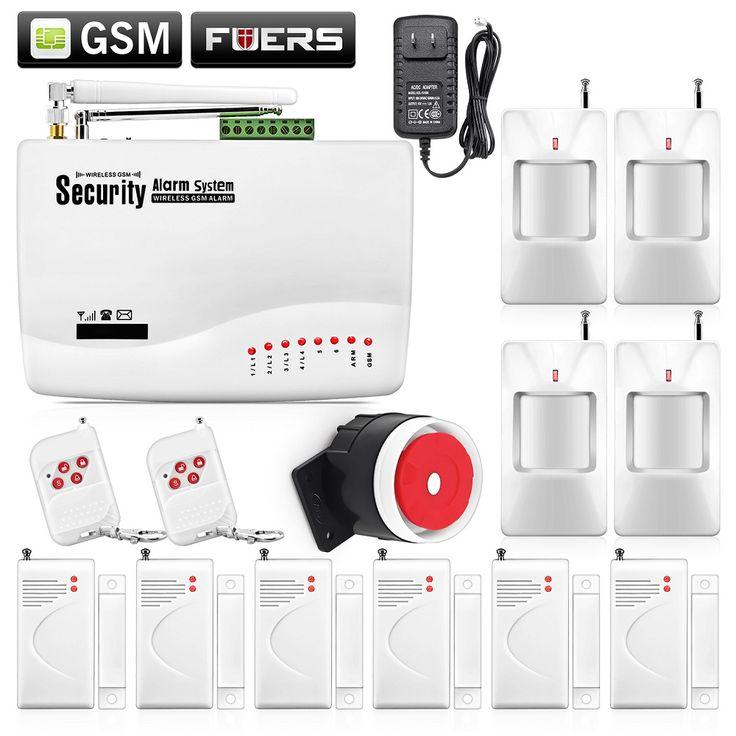 Беспроводной GSM охранная сигнализация с двойной антенной для дома/Датчик двери, инструкция, русская озвучка купить на AliExpress