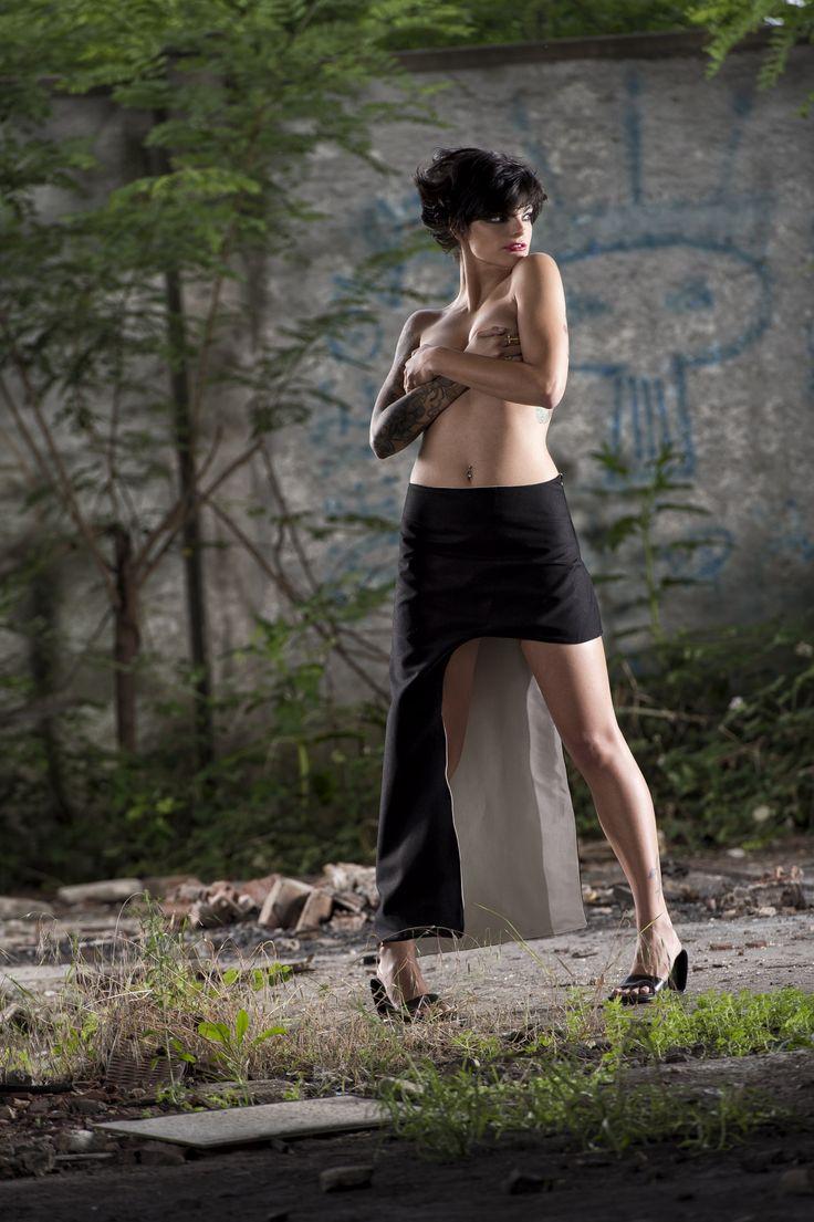 #gabrielladeplano #fashion #collection2013 # skirt #asymmetric #moda #madeinitaly #double #elegant #minimal