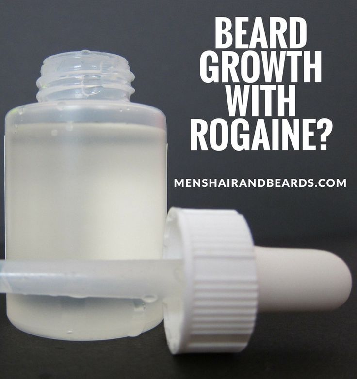 Rogaine for beard growth. It might be the solution for men that can't grow a beard. Check it out!