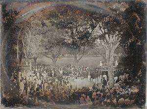 Cérémonie religieuse à la Martinique pour fêter l'abolition de l'esclavage en 1850